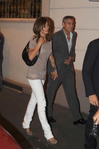 Джордж Клуни и Элизабета Каналис на двойном свидании