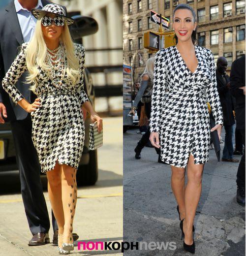 Fashion Battle: Lady GaGa и Ким Кардашиан
