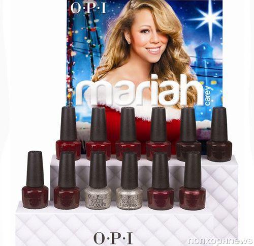 Рекламная кампания рождественской коллекции Мэрайи Кэри для OPI