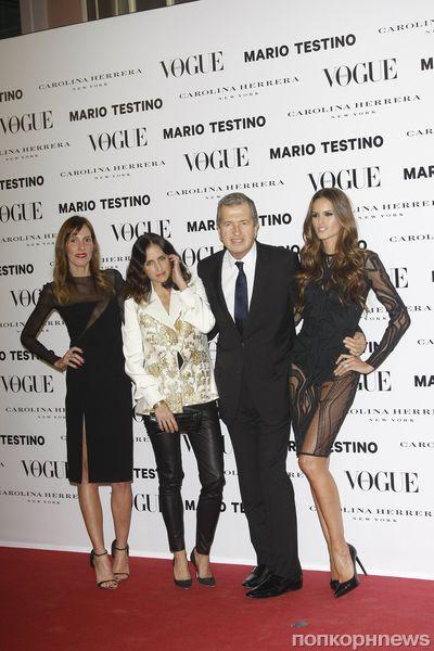 Звезды на вечеринке журнала Vogue в Мадриде.