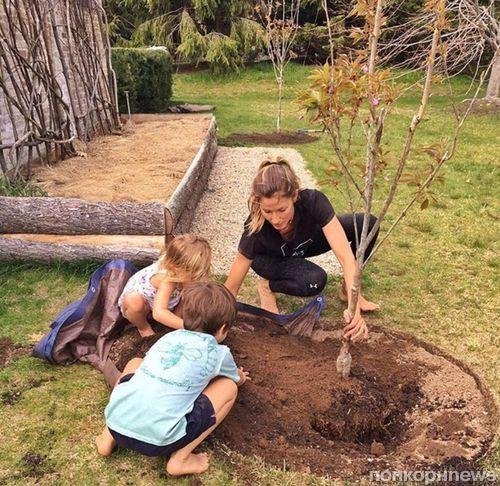 Жизель Бундхен сажает деревья, чтобы помочь планете