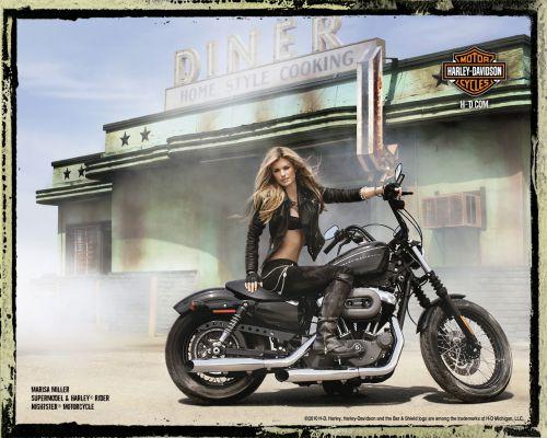 Мариса Миллер в рекламе Harley Davidson