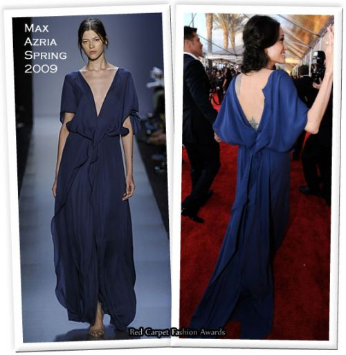 Анджелина джоли в синим платье