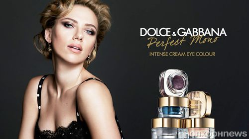 Скарлетт Йохнассон в рекламе крем-теней Dolce & Gabbana