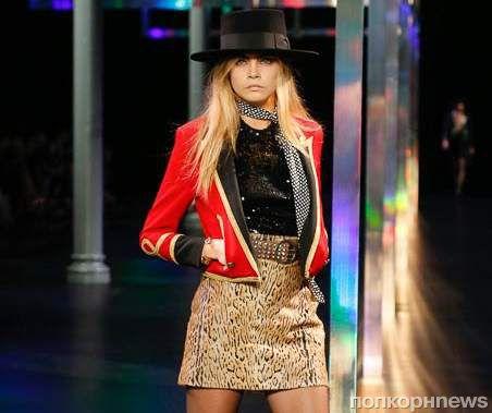 Модный показ новой коллекции Saint Laurent. Весна / лето 2015