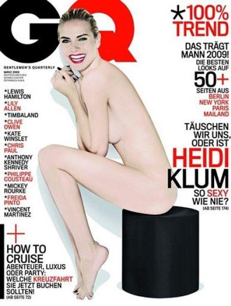 Хайди Клум в журнале GQ. Март 2009