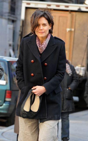 Кэти Холмс на съемках нового фильма