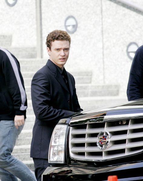Джастин Тимберлейк на съемочной площадке фильма «Социальная сеть». 30 января