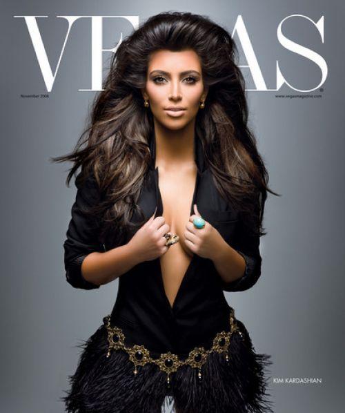 Ким Кардашян в журнале Vegas. Ноябрь 2008