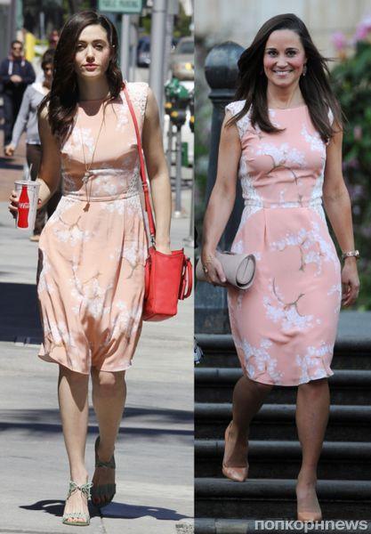 Fashion battle: Эмми Россум и Пиппа Миддлтон