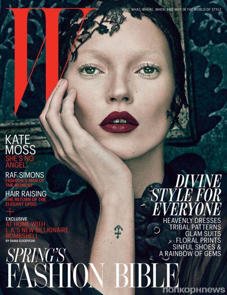 Кейт Мосс на обложке журнала W. Март 2012