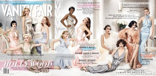 Восходящие звезды Голливуда на обложке Vanity Fair. Март 2012