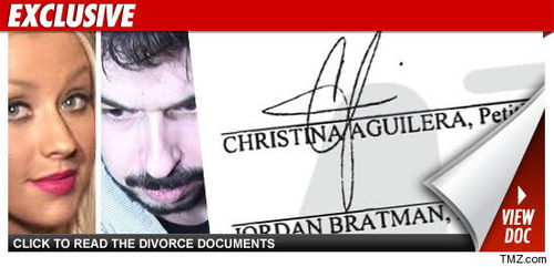 Кристина Агилера и Джордан Брэйтман обсудили детали развода