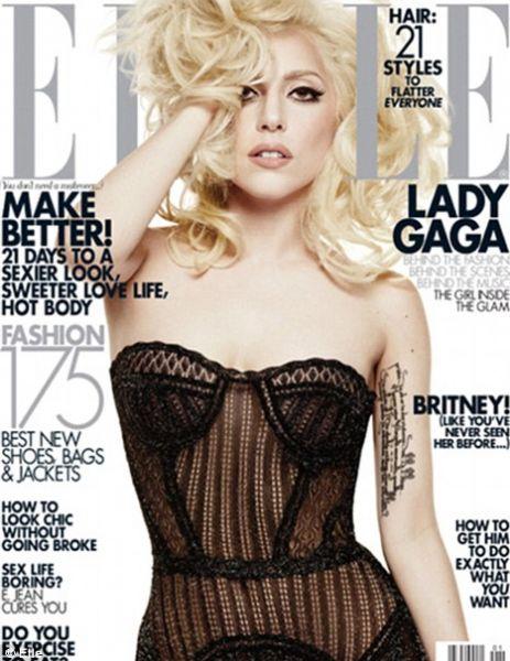 Lady GaGa в журнале Elle. US. Январь 2010