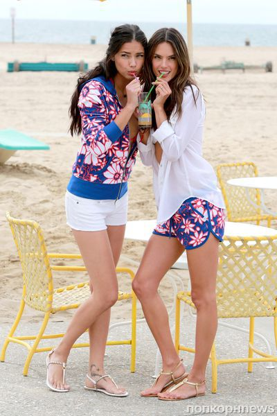 Алессандра Амбросио и Адриана Лима на фотосессии Victoria's Secret
