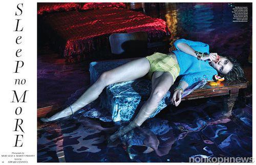 Наталья Водянова в журнале W. Декабрь 2012