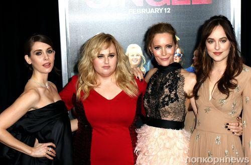Дакота Джонсон, Ребел Уилсон и другие на премьере комедии «В активном поиске» в Нью-Йорке
