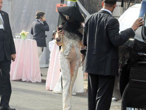 Lady Gaga на окончании школы своей сестры