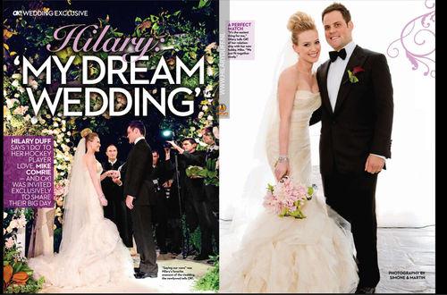 Свадебные фото Хилари Дафф из журнала OK!