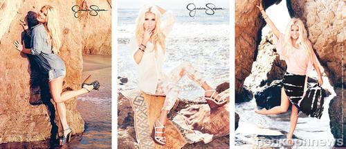 Джессика Симпсон в рекламной кампании своей коллекции. Весна / лето 2013