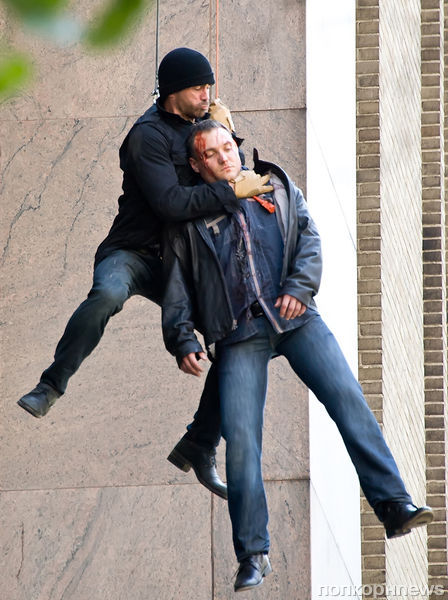 Колин Фаррелл на съемках фильма Dead Man Down