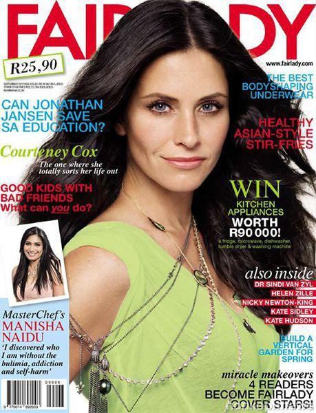 Кортни Кокс в журнале Fairlady. Сентябрь 2012