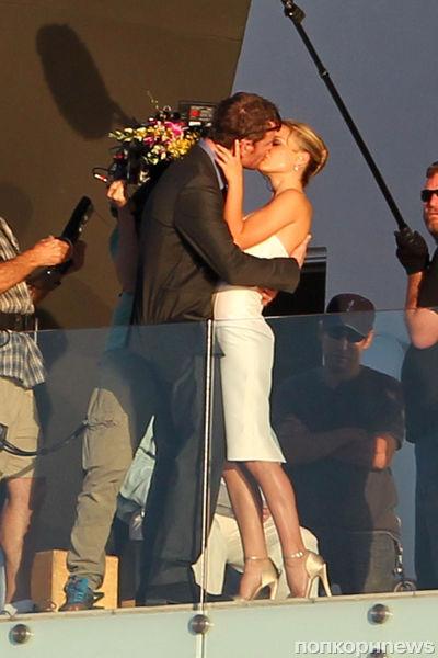 Натали Портман и Майкл Фассбендер на съемках фильма Терренса Малика
