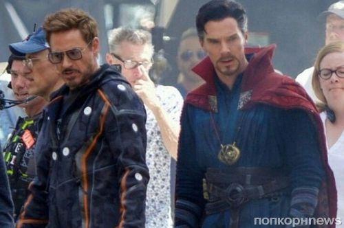 Роберт Дауни-младший и Бенедикт Камбербэтч на новых фото со съемок «Мстителей: Война бесконечности»