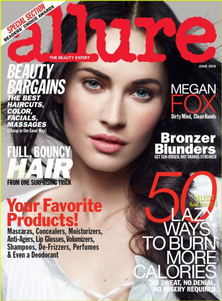 Меган Фокс на съемках для журнала Allure. Июнь 2010.