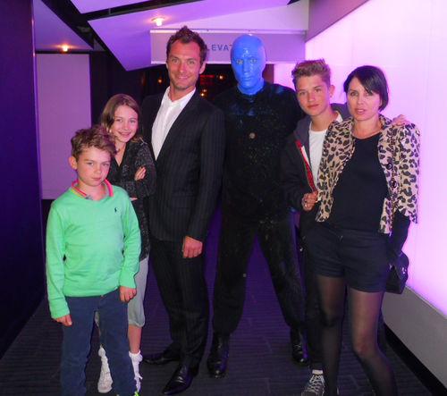 Джуд Лоу с семьей в Лас-Вегасе