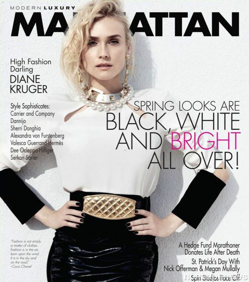 Диана Крюгер в журнале Manhattan. Март 2013