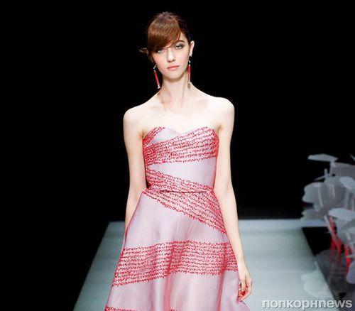 Модный показ новой коллекции Giorgio Armani. Весна / лето 2016