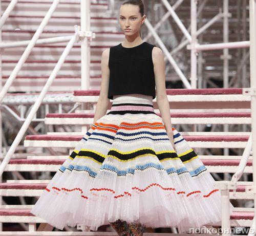 Модный показ новой коллекции Christian Dior Haute Couture. Весна / лето 2015