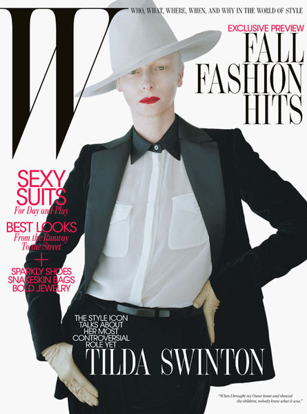 Тильда Суинтон в журнале W. Август 2011