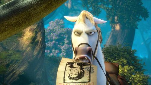 """Промо-ролик фильма """"Рапунцель: Запутанная История 3D"""" о коне Максимусе"""