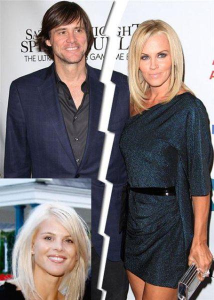 Джим Керри и Дженни МакКарти расстались из-за супруги Тайгера Вудса?