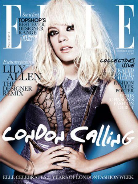 Лили Аллен в журнале Elle. Октябрь 2009