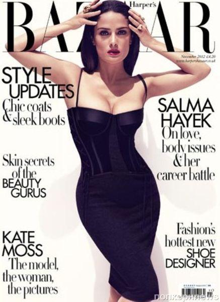 Сальма Хайек в журнале Harper's Bazaar Великобритания. Ноябрь 2012