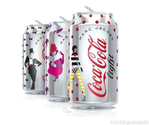 Первый взгляд на банки Diet Coke от Марка Джейкобса
