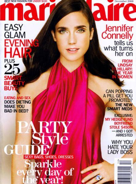 Дженнифер Коннели в журнале Marie Claire. Декабрь 2008
