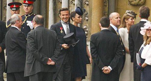 Виктория и Дэвид Бэкхем прибыли на королевскую свадьбу