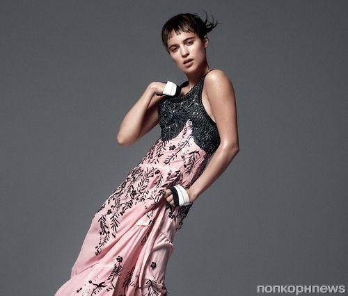 Алисия Викандер в журнале Vogue. Январь 2015