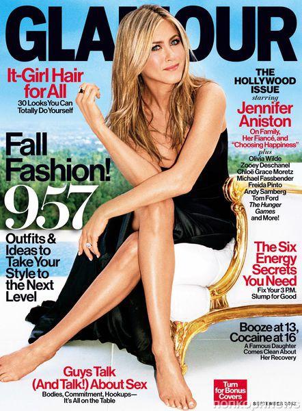 Дженнифер Энистон в журнале Glamour. Сентябрь 2013