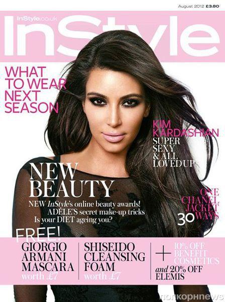 Ким Кардашиан в журнале InStyle Великобритания. Август 2012