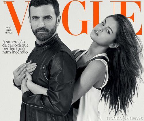 Селена Гомес и Николя Гескьер снялись для июньской обложки  Vogue