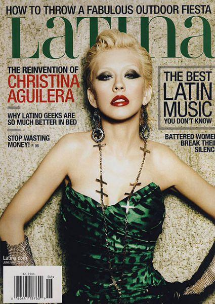 Кристина Агилера в журнале  Latina. Июнь / Июль 2010