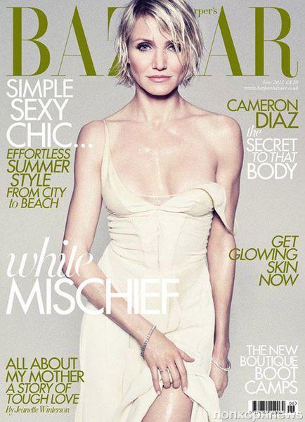 Кэмерон Диаз в журнале Harper's Bazaar Великобритания. Июнь 2012