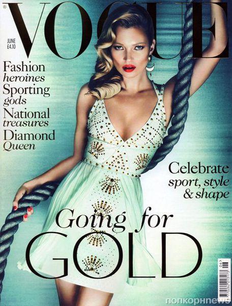 Кейт Мосс в журнале Vogue Великобритания. Июнь 2012