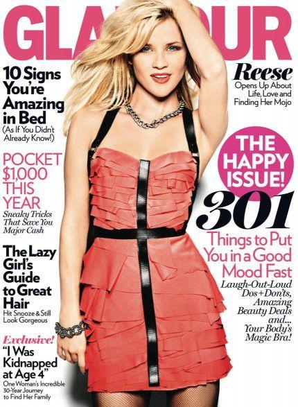 Риз Уизерспун в журнале Glamour. Январь 2011