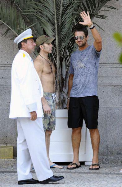 Джерард Батлер на отдыхе в Рио-де-Жанейро